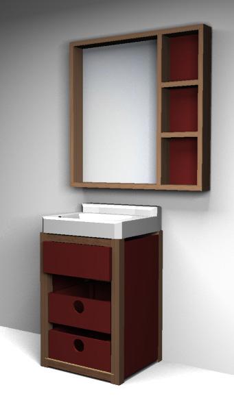 Baño Maria Cocina Definicion:Espejo en el baño, y un mueblecito para debajo del lavatorio